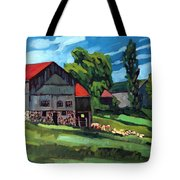 Barn Roofs Tote Bag