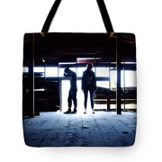 Barn Silhouettes Tote Bag