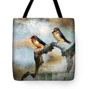 Barn Swallows Oil Tote Bag