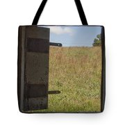 Barn Window View Tote Bag