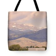 Barn With A Rocky Mountain View  Tote Bag