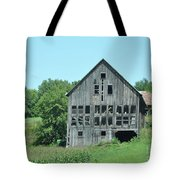 Barn With Chickens In Window Tote Bag