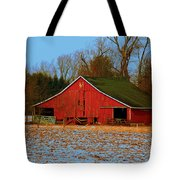 Barn With Double Doors Tote Bag