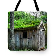 Barn With Green Roof Tote Bag