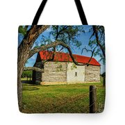 Barn With Red Metal Roof Tote Bag