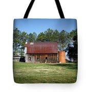 Barn With Tree In Silo Tote Bag by Douglas Barnett