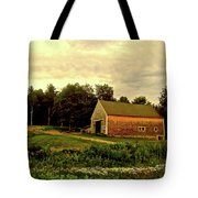 Barn With Wildflowers Tote Bag