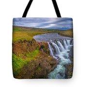 Barnafossar Waterfalls Tote Bag