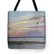 Barnegat Bay At Sunset Tote Bag