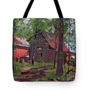Barns In April Tote Bag