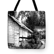 Barns In Black And White Tote Bag