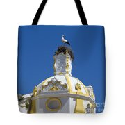 Baroque Church And Storks Nest Tote Bag