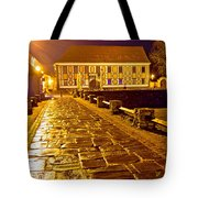 Baroque Town Of Varazdin Square At Evening Tote Bag