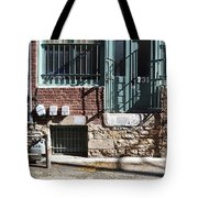 Barred In  Tote Bag