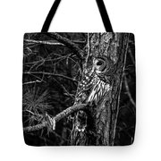 Barred In Black And White Tote Bag