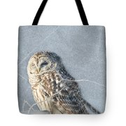 Barred Owl In The Snowstorm Tote Bag