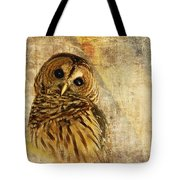 Barred Owl Tote Bag by Lois Bryan