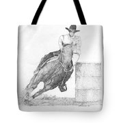 Barrel Racer Tote Bag by Lucien Van Oosten
