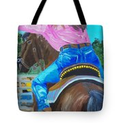 Barrel Rider Tote Bag