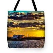 Barrier Island Sunset Tote Bag
