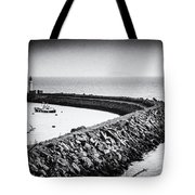 Barry Island Breakwater Film Noir Tote Bag