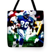 Barry Sanders On The Move Tote Bag