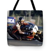 Barry Sheene. 1978 Nations Motorcycle Grand Prix Tote Bag