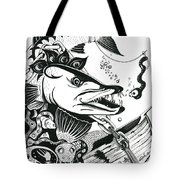 Barrycuda And Worm Tote Bag