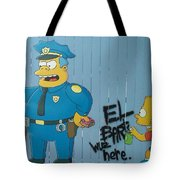 Bart Was Here Tote Bag