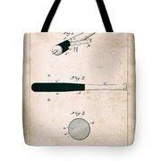 Baseball Bat - Patent Drawing For The 1902 John Hillerich Basebal Bat Tote Bag