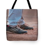 Baseball Cleats In The Dirt Tote Bag by Kelly Hazel