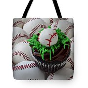 Baseball Cupcake Tote Bag by Garry Gay