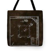 Baseball Game Patent Tote Bag