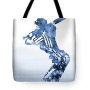 Baseball Girl-blue Tote Bag