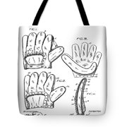 Baseball Glove Patent 1910 Tote Bag