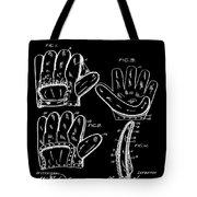 Baseball Glove Patent 1910 In Black Tote Bag