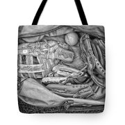 Baseball Gloves Bw Tote Bag