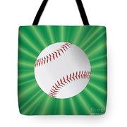 Baseball Over Green Tote Bag