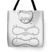 Baseball Patent 1928 Tote Bag