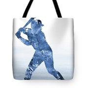 Baseball Player-blue Tote Bag