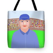 Baseball Star Portrait Tote Bag
