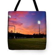 Baseball Sunset Tote Bag