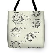 Baseball Training Device Patent 1961 Weathered Tote Bag