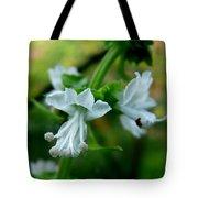 Basil Bloom Tote Bag