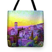 Basilica Of St. Francis Of Assisi Tote Bag