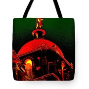 Basilica Of The Little Flower, Dome With Green Sky Tote Bag