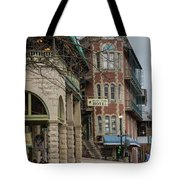 Basin Park And Flatiron Flats Tote Bag