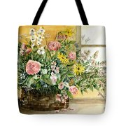 Basket Bouquet Tote Bag