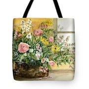 Basket Bouquet Tote Bag