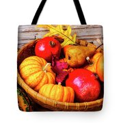 Basket Full Of Autumn Tote Bag